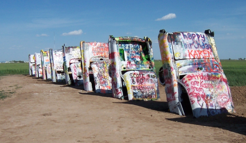 The Alternative Roadside Attraction Cadillac Ranch