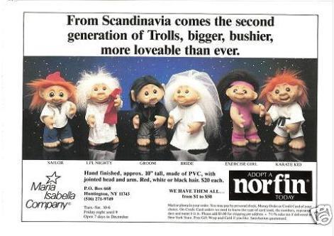 1990s Troll Dolls Late 1980s through 1990s: a