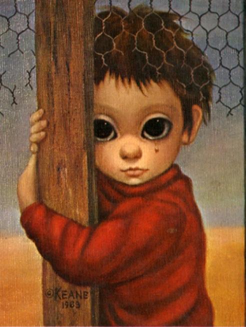 m keane 1963 ~ big eye girl w/poodles | Big eyes, Big eyes ...  |Artist Keane Big Eyes