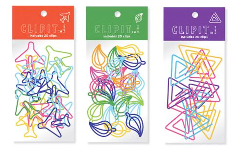 Some Clipit paper clips